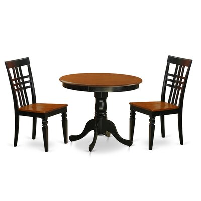 3 Piece Dining Set Finish: Black/Cherry