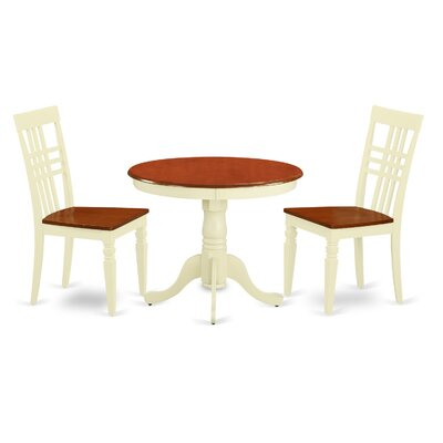 3 Piece Dining Set Finish: Buttermilk/Cherry