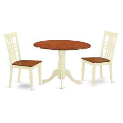 3 Piece Dining Set Chair Finish: Buttermilk