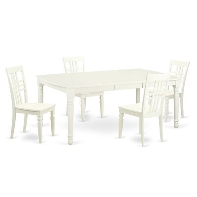 5 Piece Dining Set in Linen White
