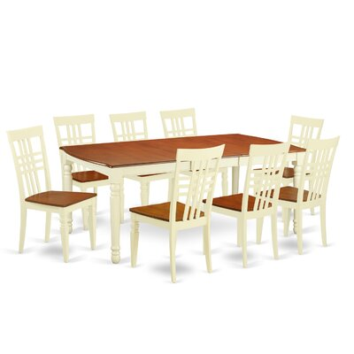 9 Piece Dining Set in Buttermilk/Cherry