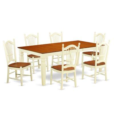 Beesley 7 Piece Buttermilk Dining Set
