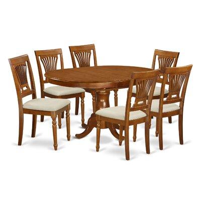 Portland 7 Piece Dining Set Upholstery: Microfiber Upholstery