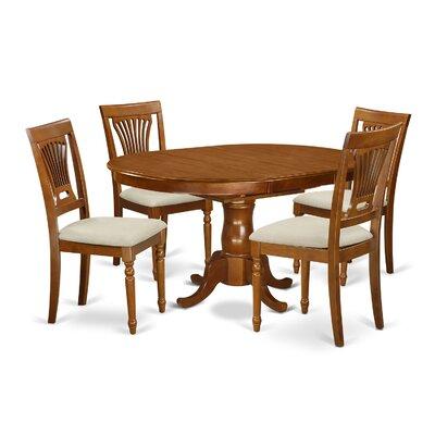 Portland 5 Piece Dining Set Upholstery: Microfiber Upholstery