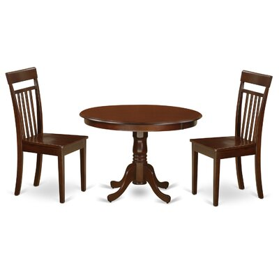 Hartland 3 Piece Dining Set Finish: Mahogany