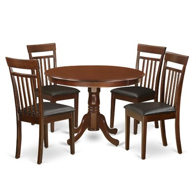 Hartland 5 Piece Dining Set Finish: Mahogany