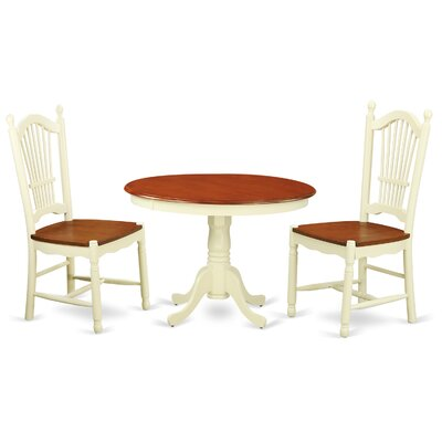 Hartland 3 Piece Dining Set Finish: Buttermilk/ Cherry