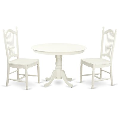 Hartland 3 Piece Dining Set Finish: Linen White