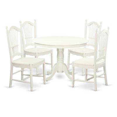 Hartland 5 Piece Dining Set Finish: Linen White