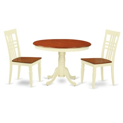 Hartland 3 Piece Dining Set Finish: Buttermilk/Cherry