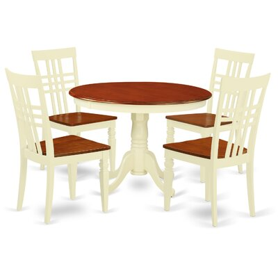 Hartland 5 Piece Dining Set Finish: Buttermilk/Cherry