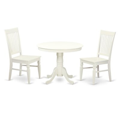 3 Piece Dining Set Color: White