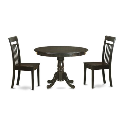 Hartland 3 Piece Dining Set Finish: Cappuccino