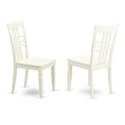 Sharonville Wood Seat Dining Side Chair (Set of 2) Finish: Linen White