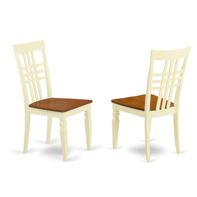 Sharonville Wood Seat Dining Side Chair (Set of 2) Finish: Buttermilk/Cherry