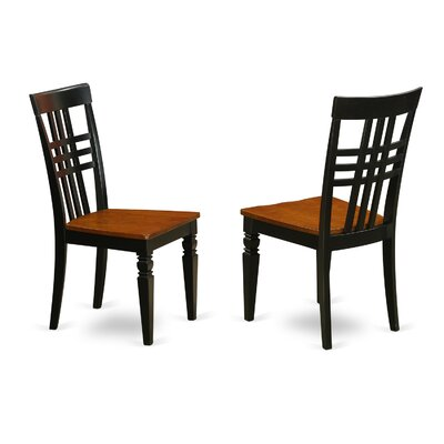 Sharonville Dining Solid Wood Dining Chair (Set of 2) Finish: Black/Cherry