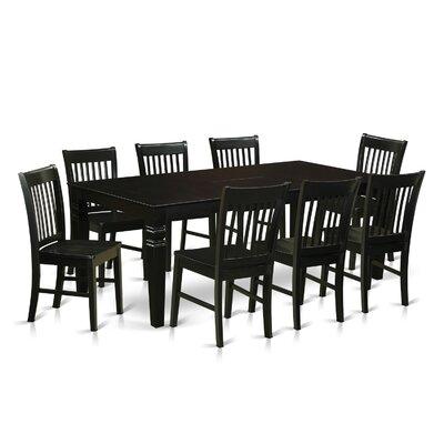 Beesley 9 Piece Rectangular Wood Dining Set Finish: Black