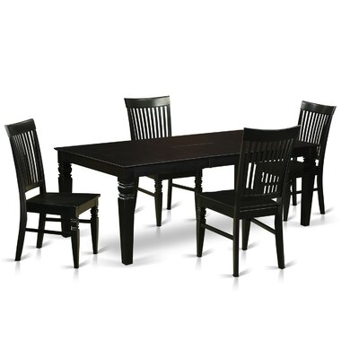 Beesley 5 Piece Black Dining Set