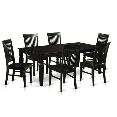 Beesley 7 Piece Black Dining Set