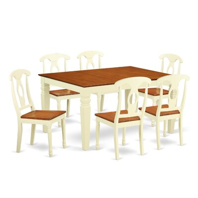 Beley 7 Piece Dining Set Finish: Buttermilk/Cherry