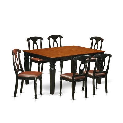 Beley 7 Piece Dining Set Finish: Black/Cherry