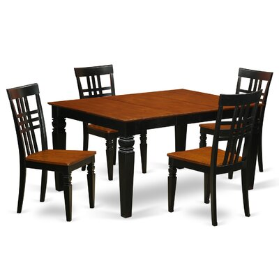 Beeson 5 Piece Dining Set Finish: Black/Cherry