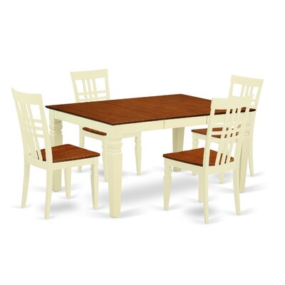Beeson 5 Piece Dining Set Finish: Buttermilk/Cherry