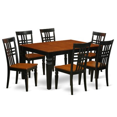 Beetham 7 Piece Dining Set Finish: Black/Cherry