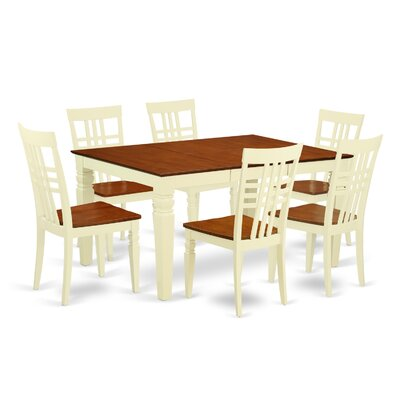 Beetham 7 Piece Dining Set Finish: Buttermilk/Cherry