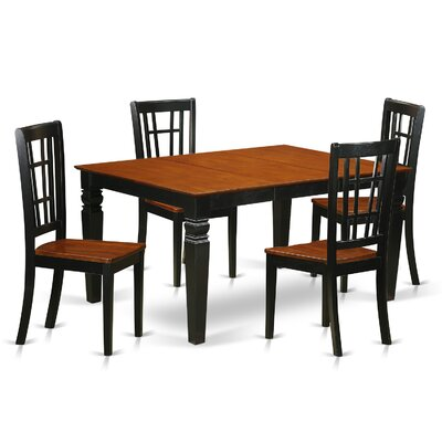 Bellaire 5 Piece Dining Set Finish: Black/Cherry