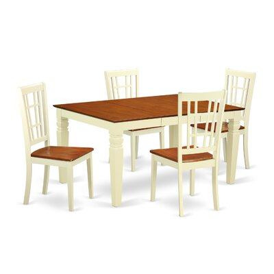 Bellaire 5 Piece Dining Set Finish: Buttermilk/Cherry