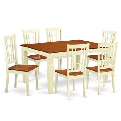 Bellar 7 Piece Dining Set Finish: Buttermilk/Cherry