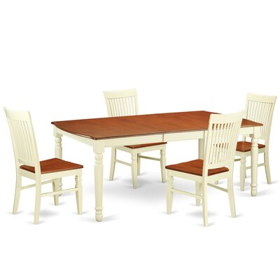 Pimentel 5 Piece Extendable Dining Set
