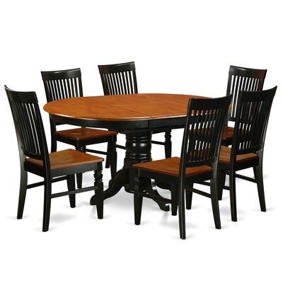 Piland 7 Piece Breakfast Nook Dining Set Color: Black/Cherry