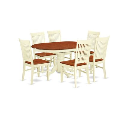 Piland 7 Piece Breakfast Nook Dining Set Color: Buttermilk/Cherry