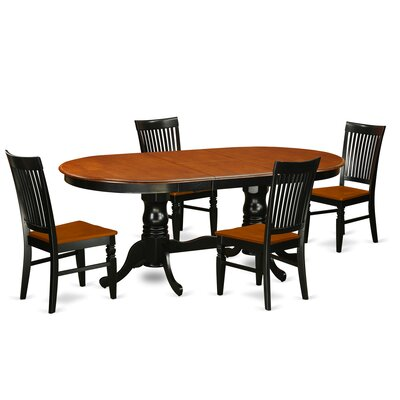Pilcher 5 Piece Extendable Dining Set Color: Black/Cherry