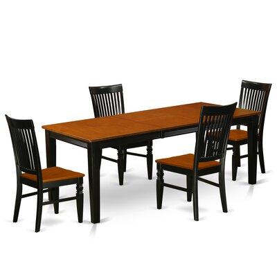 Pilger 5 Piece Extendable Dining Set Color: Black/Cherry