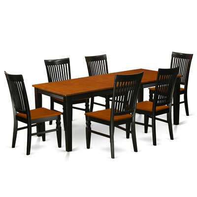 Pilger 7 Piece Extendable Dining Set Color: Black/Cherry