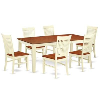 Pilger 7 Piece Extendable Dining Set Color: Buttermilk/Cherry