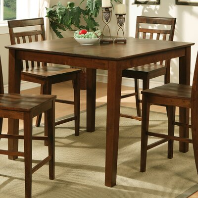 East West Counter Height Pub Table (Set of 2) - Finish: Dark Oak