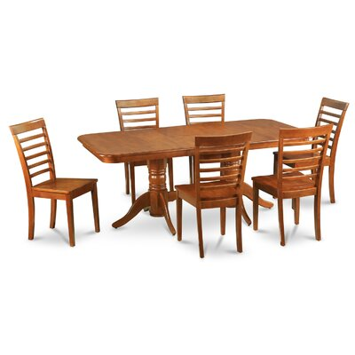 Pillsbury Contemporary 7 Piece Dining Set