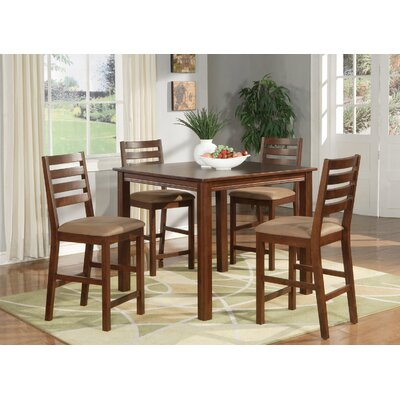 Caf� 5 Piece Counter Height Dining Set Finish: Espresso