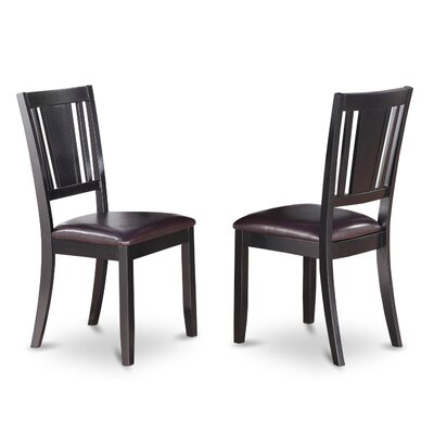Dudley Side Chair (Set of 2) Finish: Black