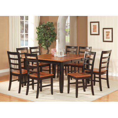 Parfait 7 Piece Dining Set Finish: Black
