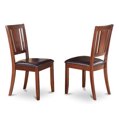 Dudley Side Chair (Set of 2) Finish: Mahogany