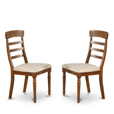 Vintage Side Chair (Set of 2) Finish: Dark Oak, Upholstery: Microfiber