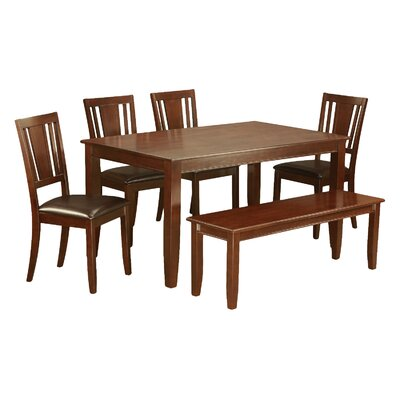 Dudley 6 Piece Dining Set Finish: Mahogany