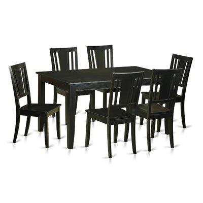 Dudley 7 Piece Dining Set Finish: Black