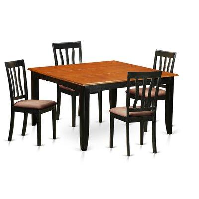 Parfait 5 Piece Dining Set Upholstery: Microfiber Upholstery
