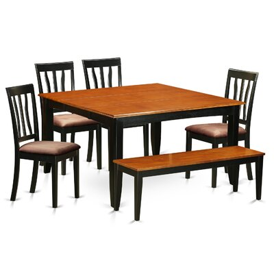 Parfait 6 Piece Dining Set Upholstery: Microfiber Upholstery
